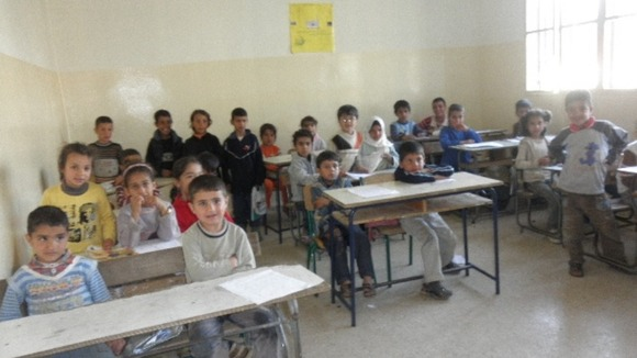 Syrian children at a War Child project in Lebanon
