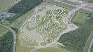 Northumberlandia from the air