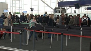 The airport handled 1.91 million passengers last month