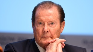 Actor Sir Roger Moore
