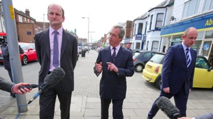 Douglas Carswell and Nigel Farage on the campaign trail in Clacton.