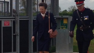 The Princess Royal arrives at Brooksby Melton College