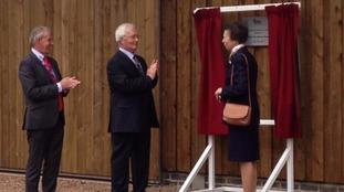 Princess Anne unveiled a commemorative plaque