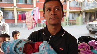 Baby girl born in the midst of earthquake drama
