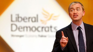 Tim Farron confirms leadership bid.