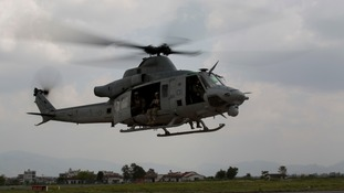 A UH-1Y Huey chopper, similar to the one which went missing