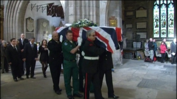 Memorial service held for PC David Rathband in Newcastle last week