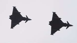 RAF Typhoon fighter aircraft