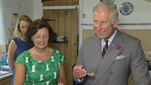 Prince Charles pudding tasting