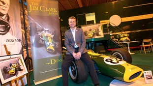 Allan McNish at the Jim Clark Museum.
