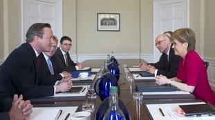 David Cameron met for talks with Nicola Sturgeon
