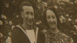 From Olive Cooke's photo album: Olive and her first husband Leslie, who was killed in the Second World War