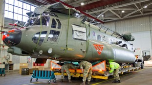 The RAF Chinooks were sent at the start of the month.