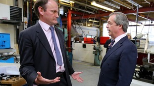 Douglas Carswell with Nigel Farage during the election campaign.
