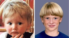 Composite picture of British toddler Ben Needham.