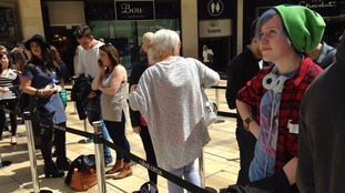 Hopefuls line up to audition for the X Factor at Cabot Circus