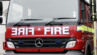 Fire fighters were called to the scene yesterday afternoon