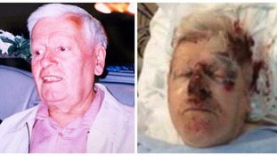 Reginald Stocking, 78, was opening the gate to his home in West Bromwich a week ago when he was attacked.