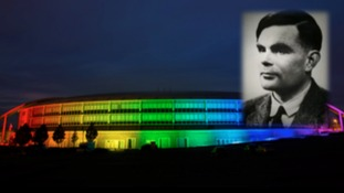 GCHQ lit up in rainbow colours to signal pride in diverse workforce