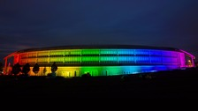 Rainbow coloured GCHQ