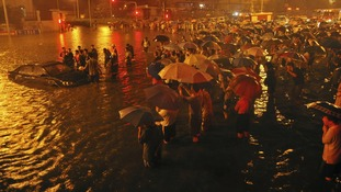 Beijing floods Chinese Twitter row