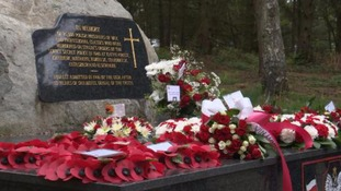 Wreaths were laid on the Katyn memorial stone on the Chase.