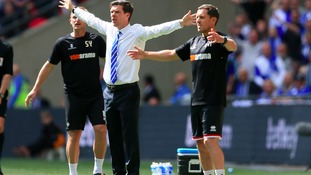 Both managers on the Wembley touchline