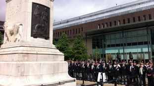 One minutes silence was held at 11am in silent protests against defence cuts.