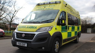 One of the new ambulances