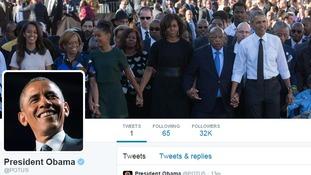 President Obama's Twitter profile.