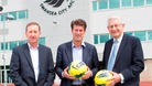 Huw Jenkins, Michael Laudrup and Vice Chancellor of Swansea University