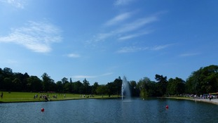 The view in Cannon Hill Park, Birmingham