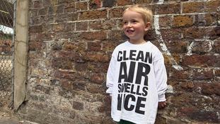 boy in clean air t shirt