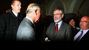 Gerry Adams meets Prince Charles.