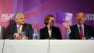 Nigel Farage (right) with Patrick O'Flynn (left).