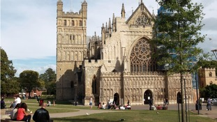 Some of the greatest Roman remains in the West Country lie buried beneath Exeter Cathedral Green