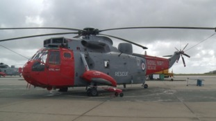 The flypast will include many of the distinctive Red and Grey Sea King helicopters