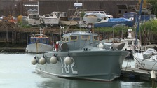 The MTB 102 boat