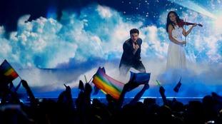 Uzari and Maimuna, representing Belarus, performed the song Time.