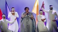 Bojana Stamenov performed Beauty Never Lies for Serbia.