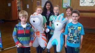 School children get in the Olympic spirit