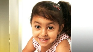 Four-year-old Priyanka Bhogal after a crash on the M6 in November last year