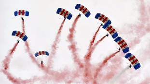 The RAF Falcons Parachute Display team will take part in the Royal Norfolk Show.