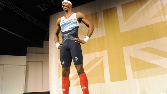 Phillips Idowu poses in Team GB Olympic kit.