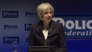 Theresa May addresses the Police Federation