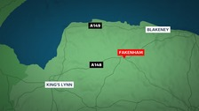 Police in Norfolk have arrested three men after a cannabis factory was uncovered in Fakenham.
