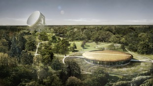 An artists impression of the revamped Jodrell Bank.
