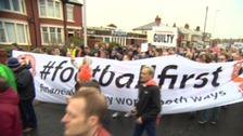 Blackpool supporters protesting against the club's owners.