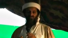 A previously unreleased video of slain former Al-Qaeda chief Osama bin Laden is seen in this still image taken from a video released on September 12, 2011.