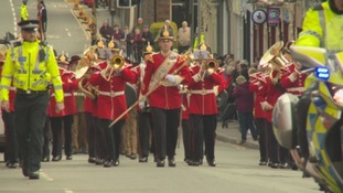 Band leads Duke of Lancaster's parade through Maryport
